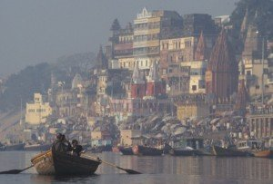 A boat ride down the Ganges River in Varanasi is a must.