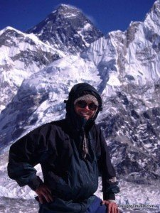 BJ in front of Mt. Everest