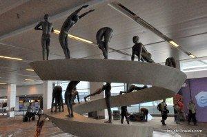 sun salutation statue delhi airport indira gandhi