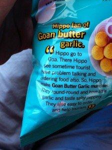 hippo round round snacks goan butter garlic