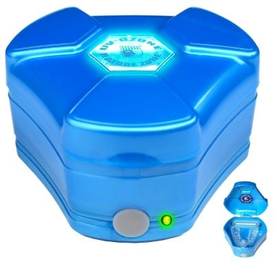 Brain-Pad UV / Ozone Sanitizing Case (Blue) for night guard