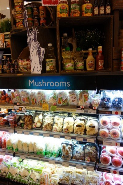 The contrast between our Crisco and their gourmet mushrooms is too much!