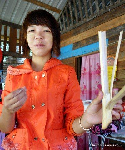 Zaw Zaw, super chick and wielder of bamboo rice