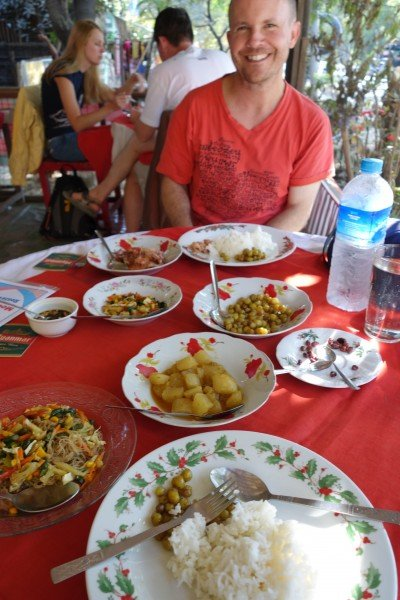 Bonus dishes are the norm at Moe Cherry in Mrauk U.