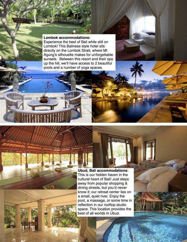 Bali  2015 accommodations sheet