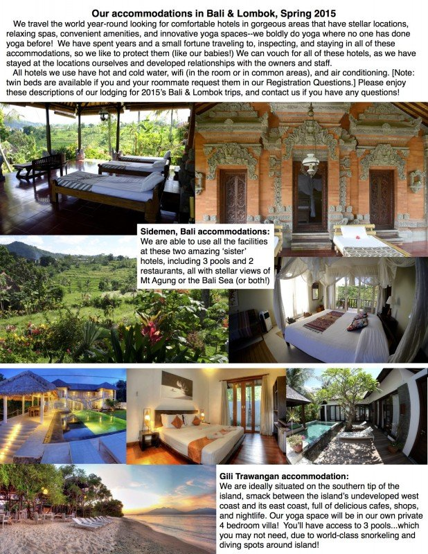 Bali 2015 accommodations sheet REVISED 1