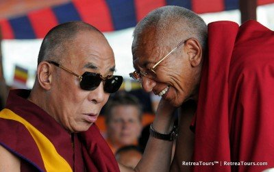Two good friends, HHDL and the Thiksey Rinpoche