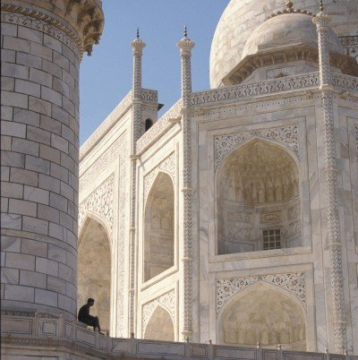073-Man sitting at base of minaret Taj Mahal Sep 1, 2012 2-18 PM 3610x5356