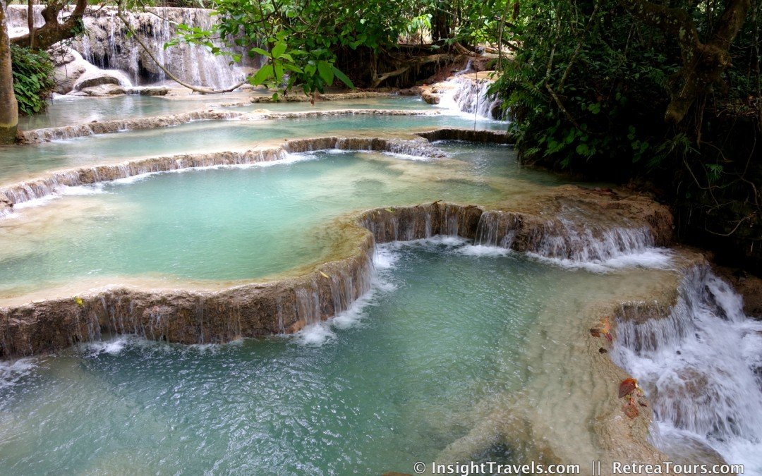 Kuang Si Waterfalls in Luang Prabang, Laos