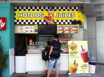 Hotdog juices.