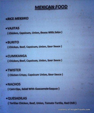 Unionized vajitas from Meksiko.