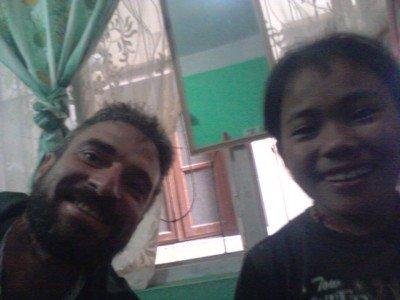 Chris and Mingmar after her Kathmandu tetanus shot adventure.