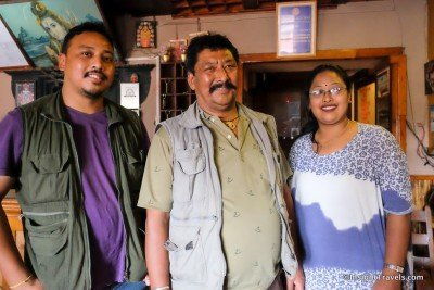 Kailash, his father Suresh, and his wife Monika