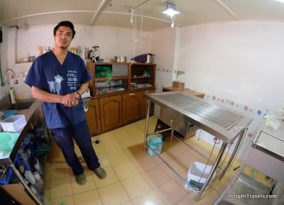 Dr. Pranav in his operating room in Bhaktapur, Nepal.
