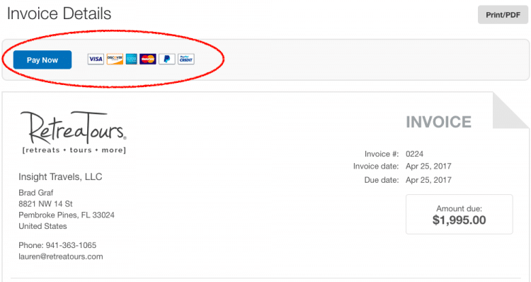 how to pay a paypal invoice with a credit card retreatours